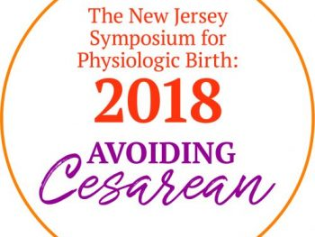 Logo that reads the New Jersey Symposium for Physiologic Birth: 2018 Avoiding Cesarean