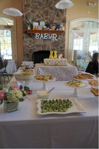 Baby Shower table with food