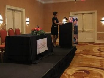 Lisa Lederer speaking at the NJ Symposium for Physiologic Birth