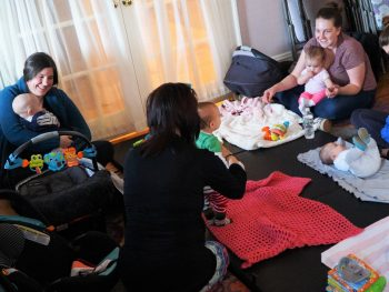 moms at lactation group at the Midwives of New Jersey's Madison Office